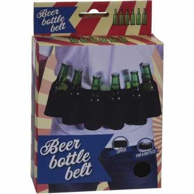 Bierfles riem zwart vrijgezellen feest artikelen