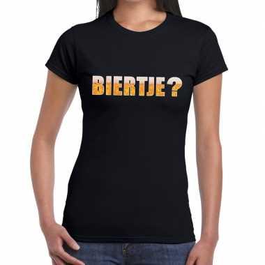 Feestwinkel | biertje fun t-shirt zwart voor dames morgen amsterdam