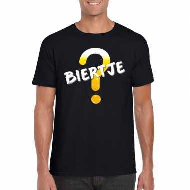 Feestwinkel | biertje fun t-shirt zwart voor heren morgen amsterdam