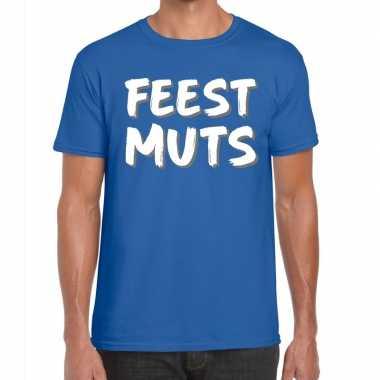 Feestwinkel | blauw t-shirt feestmuts voor heren morgen amsterdam