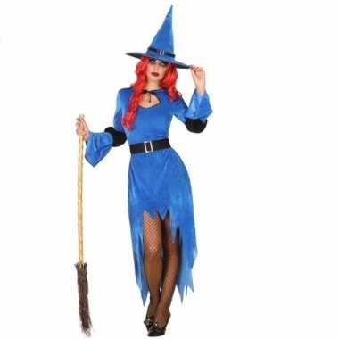 Feestwinkel | blauwe heksenjurk met hoed voor dames morgen amsterdam