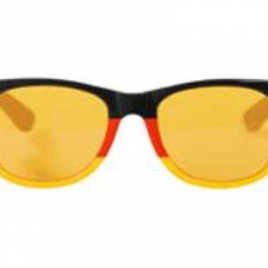 Blues brother bril rood geel zwart