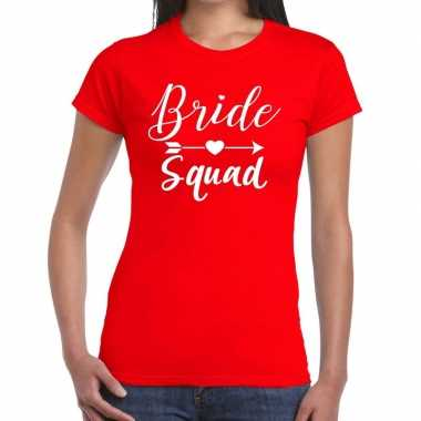 Feestwinkel | bride to be vrijgezellenfeest t-shirt rood voor dames m