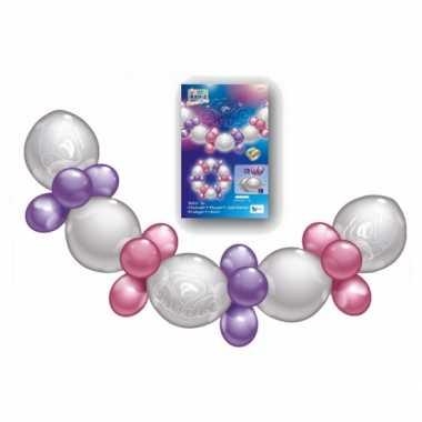 Bruiloft ballonnen slinger roze paars