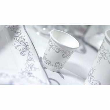 Feestwinkel | bruiloft bekertjes zilver 8 stuks morgen amsterdam