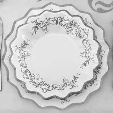 Feestwinkel   bruiloft bordjes zilver 27 cm morgen amsterdam