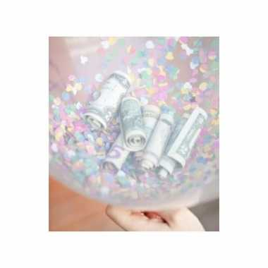 Cadeauballon 90 cm vullen met confetti