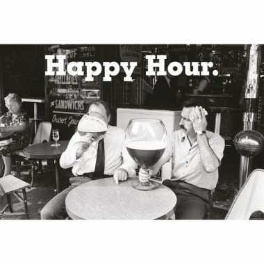 Cafe kroeg drank poster happy hour 61 x 91 cm