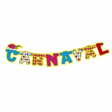Feestwinkel   carnaval letterslingers 130 cm morgen amsterdam