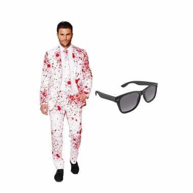 Feestwinkel | carnavalskostuum bloedspatten heren pak 54 (xxl) met gr