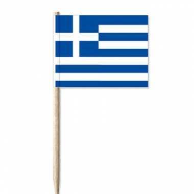 Feestwinkel | cocktailprikker griekenland vlaggetjes 100 st morgen am