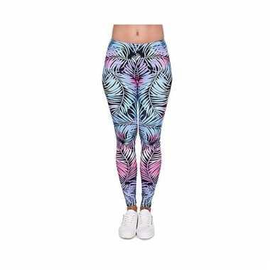 Dames legging in aparte flowers print