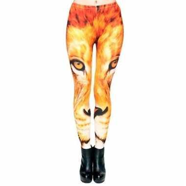 Dames legging met leeuw print