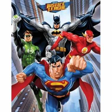 Feestwinkel   dc comics superhelden mini poster 40 x 50 cm morgen ams