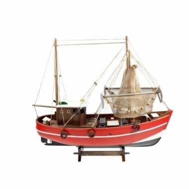 Feestwinkel | decoratie vissersboot met net 45 cm morgen amsterdam