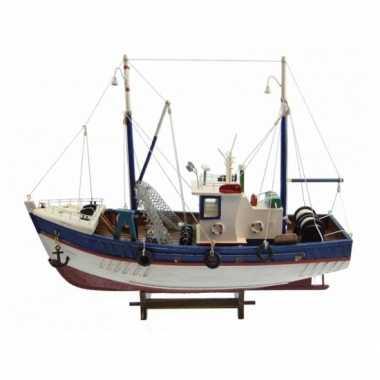 Feestwinkel   decoratie vissersboot met net 45 cm morgen amsterdam