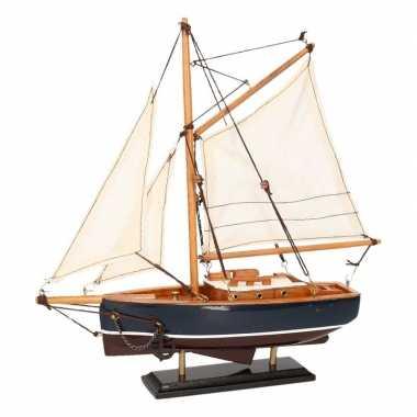 Feestwinkel | decoratie zeilboot donkerblauw 23 cm morgen amsterdam