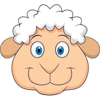Feestwinkel | dieren masker schaap/lammetje voor kids morgen amsterda
