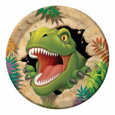 Dinosaurus bordjes 8 stuks