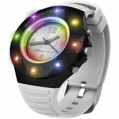 Disco party horloge met lampjes