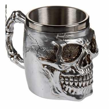 Drink beker met een doodshoofd