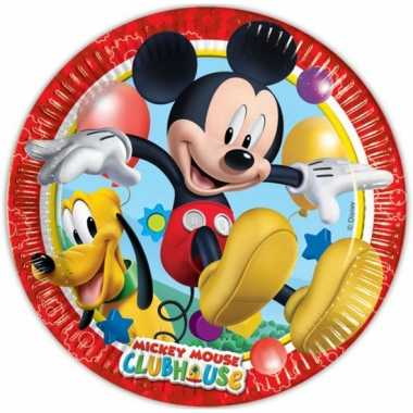 Feestwinkel | feest borden mickey mouse 16 stuks morgen amsterdam