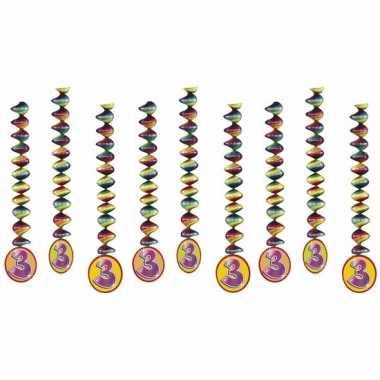 Feestwinkel   feest decoratie spiralen 3 jaar morgen amsterdam