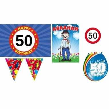 Feestwinkel | feestpakket 50 jaar abraham morgen amsterdam