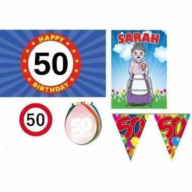 Feestwinkel | feestpakket 50 jaar sarah morgen amsterdam