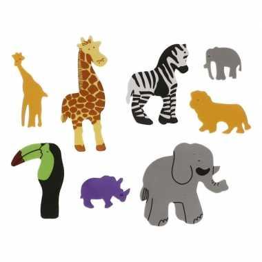 Feestwinkel | foam safari diertjes knutsel materiaal 32 stuks morgen