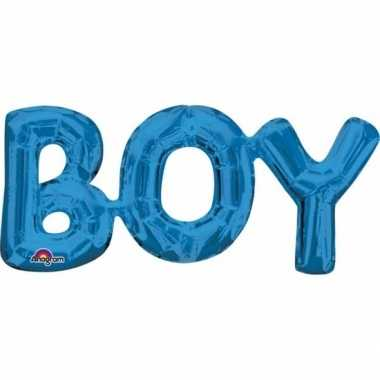 Folie ballon jongen geboren blauw 55 cm