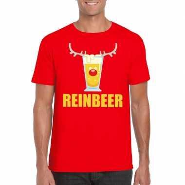 Feestwinkel | foute kerstborrel t-shirt rood reinbeer heren morgen am