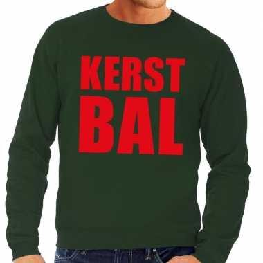 Feestwinkel | foute kerstborrel trui groen kerstbal heren morgen amst