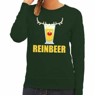 Feestwinkel | foute kerstborrel trui groen reinbeer dames morgen amst