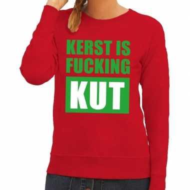 Feestwinkel | foute kerstborrel trui rood kerst is fucking kut dames