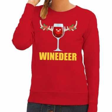 Feestwinkel | foute kerstborrel trui rood winedeer dames morgen amste