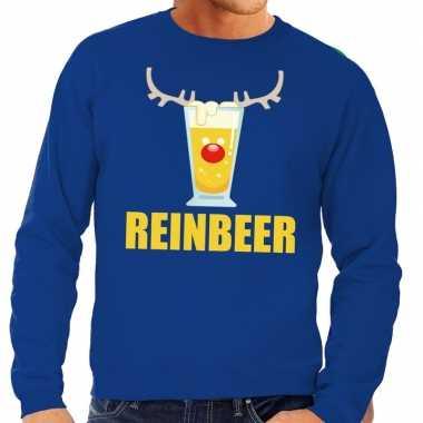 Feestwinkel | foute kersttrui blauw met biertje heren morgen amsterda