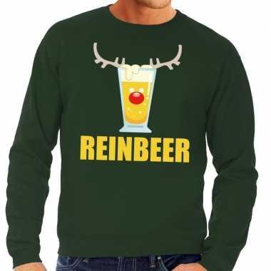 Feestwinkel | foute kersttrui groen met biertje heren morgen amsterda