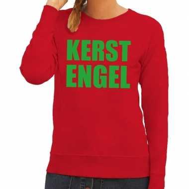 Feestwinkel | foute kersttrui rood kerstengel dames morgen amsterdam