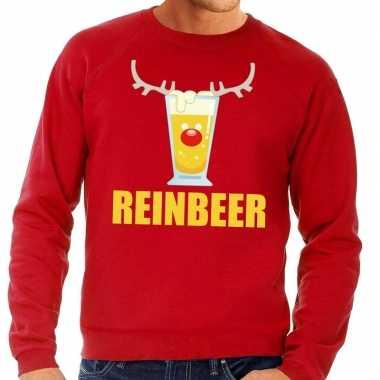 Feestwinkel | foute kersttrui rood met biertje heren morgen amsterdam