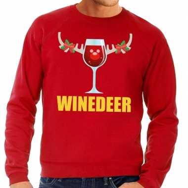 Feestwinkel | foute kersttrui rood met wijntje heren morgen amsterdam