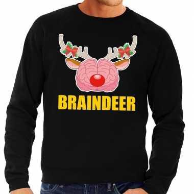 Feestwinkel | foute kersttrui / sweater braindeer zwart voor heren mo