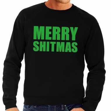 Feestwinkel   foute kersttrui zwart merry shitmas heren morgen amster