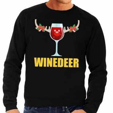 Feestwinkel | foute kersttrui zwart met wijntje heren morgen amsterda