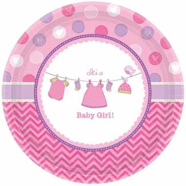 Geboorte feest bordjes its a baby girl