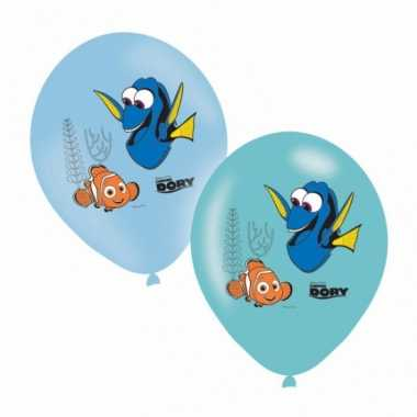 Gekleurde finding dory ballonnen 6 stuks
