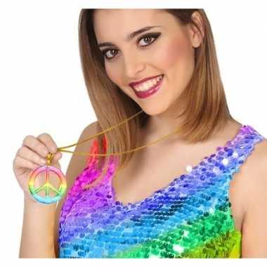 Feestwinkel | gekleurde hippie verkleed ketting peace morgen amsterda