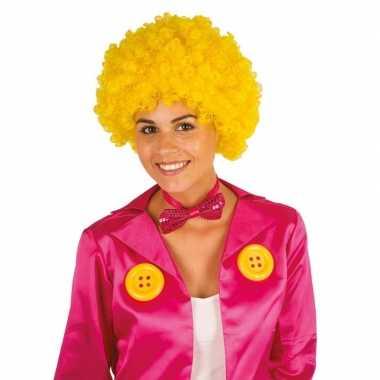 Feestwinkel | gele krullen clownspruik verkleed accessoire morgen ams
