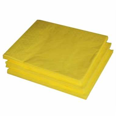Gele lunch servetten 25 stuks