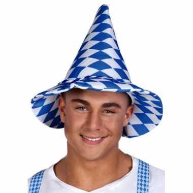 Feestwinkel   geruite oktoberfest hoed morgen amsterdam